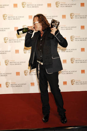 Mickey Rourke received Best Leading Actor Award for The Wrestler at the Orange British Academy Film Awards in 2009
