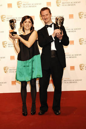 Esther May Campbell and Stewart le Maréchal, Short Film winners at the Orange British Academy Film Awards in 2009 for September.