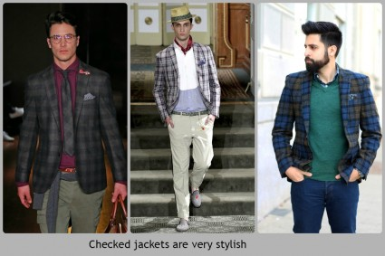 Different variations of the checked jackets