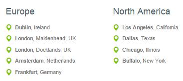 Dediserve Datacenter Locations - EU & US