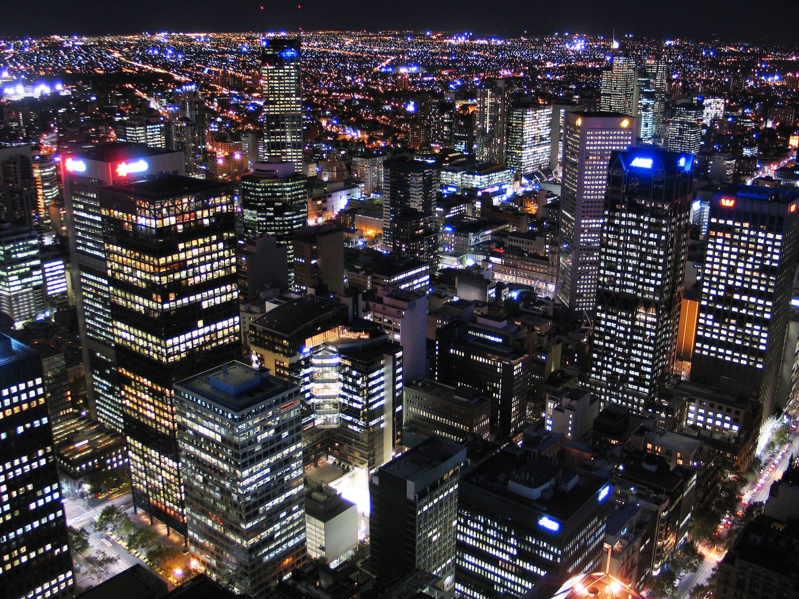 melbourne-at-night