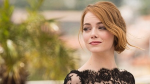 Actress Emma Stone poses for photographers during a photo call for the film Irrational Man, at the 68th International Film Festival, Cannes, southern France, Friday, May 15, 2015. (Arthur Mola / Invision)