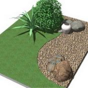 How to lay gravel in small garden
