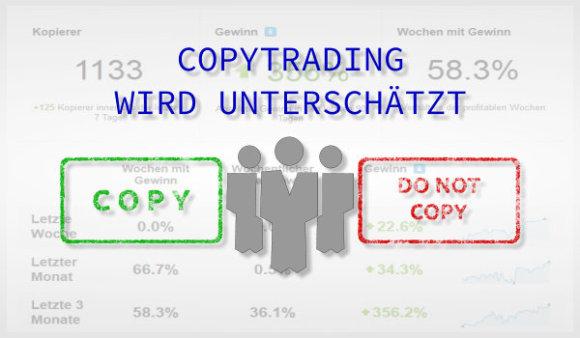 Copytrading wird bei Forex unterschätzt