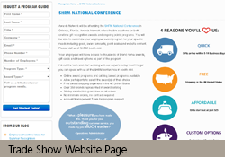 Trade Show Website Page
