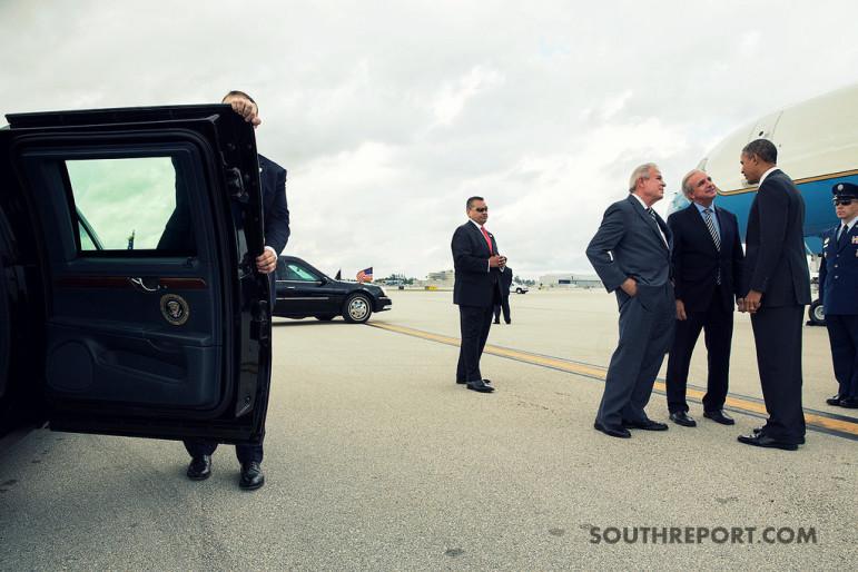 President of USA car