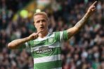 Leigh Griffiths celebrates his opener for Celtic against Dundee