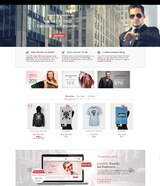 stylo wordpress ecommerce theme