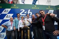 ACO/UJSF Communications Prize winner Alessandro Barlozzi, the Michelin communications manager, Jean-Claude Virfeu, Eric Gilbert, Bruno Palmet, Jean-Marc Tesseidre