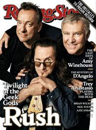 Rush on the cover of Rolling Stone
