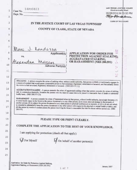 1 Randazza RO appl 450x555 Monica Foster Slammed with Protective Order by Las Vegas Court