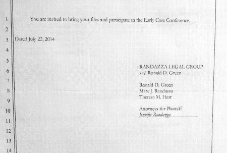 Notice of Early Case Conf 2 450x303 Suicide By Court: Monica Foster Refuses To Attend Proceedings In The Defamation Suit Against Her