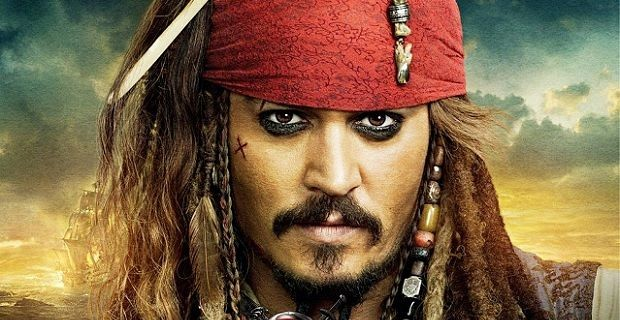 Johnny Depp on Pirates of the Caribbean poster Christoph Waltz and Rebecca Hall Circling Pirates of the Caribbean 5
