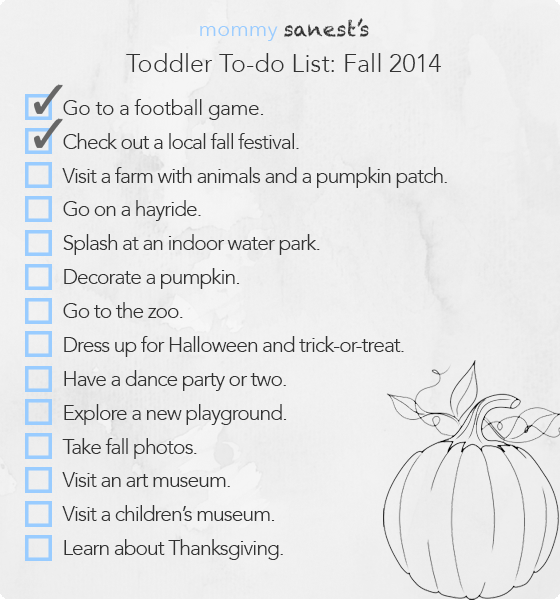 Toddler To-do List Fall 2014 | www.mommysanest.com