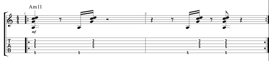 Quartal Pentatonics - Static Chord Vamp