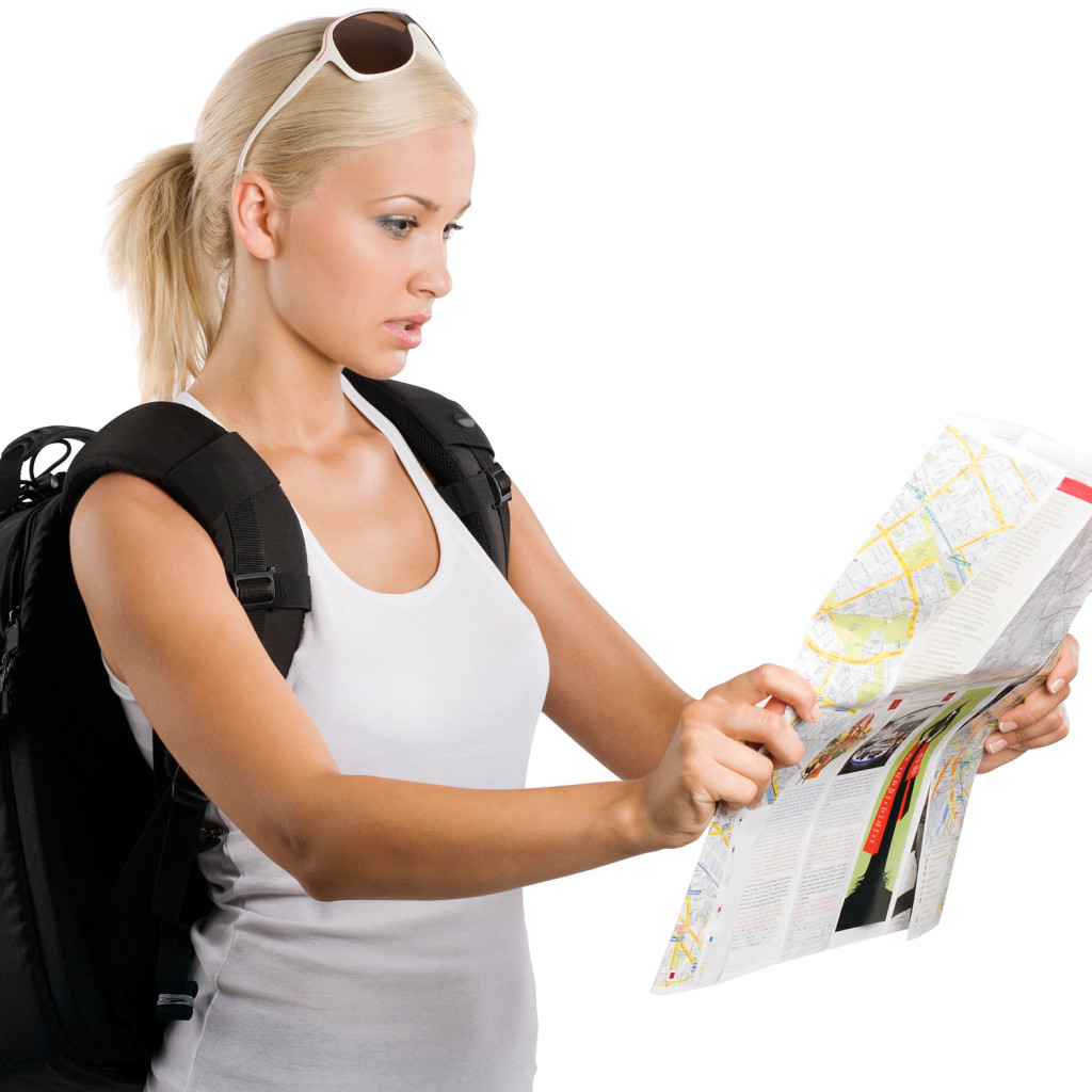 woman-tourist-map