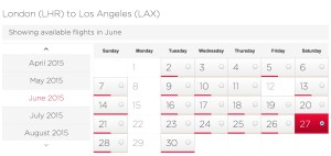 LHR-LAX June Availability