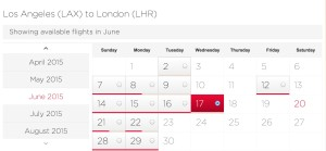 LAX-LHR June Availability 2pax