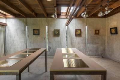 Installation shot. Tony Greene: Room of Advances, MAK Center, Schindler House, West Hollywood. Curated by Judie Bamber and Monica Majoli. Through September 72014.