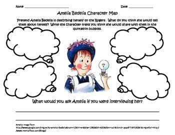 3rd Grade Common Core Character Map: Amelia Bedelia