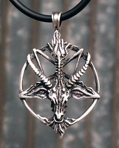 Pingente Pentagrama Invertido,baphomet,bode,goat.
