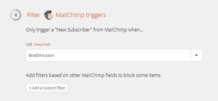 Zapier - MailChimp Autoresponder - Step 3