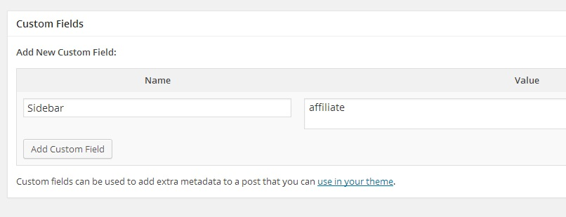 WordPress Custom Field