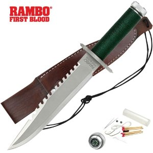 Officially Licensed RAMBO I MC-RB1 Hunting Knife Set 14-Inch Overall