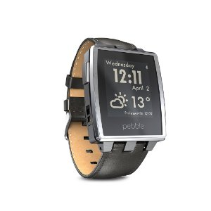 Pebble Steel Smart Watch iPhonelle ja Android-laitteet (harjattu)