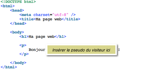 Insertion de code PHP