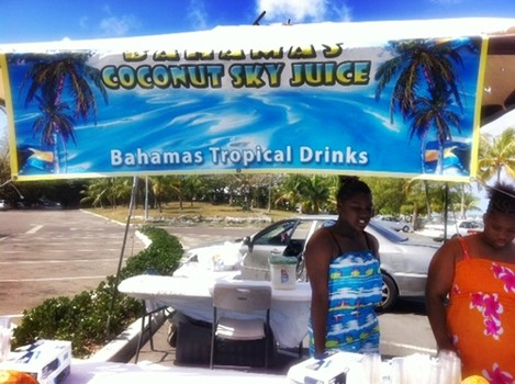 I try a special Bahamian cocktail in The Bahamas: Coconut Sky Juice