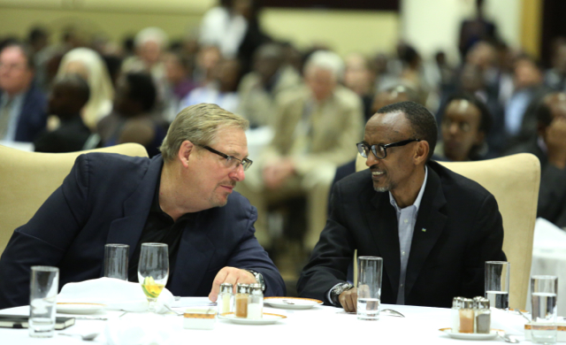Rick Warren and Paul Kagame