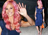 """EXCLUSIVE: Real Housewives of Orange County's Meghan King Edmonds shows off her new pink hair after taping Watch What Happens Live this evening in NYC. In support of the recent passing of her husband Jim Edmond's first wife, LeAnn Edmonds Horton, she swung her pink locks back & forth saying """"I have pink hair because I care.""""\n\nPictured: Meghan King Edmonds\nRef: SPL1088794  270715   EXCLUSIVE\nPicture by: Blayze / Splash News\n\nSplash News and Pictures\nLos Angeles: 310-821-2666\nNew York: 212-619-2666\nLondon: 870-934-2666\nphotodesk@splashnews.com\n"""