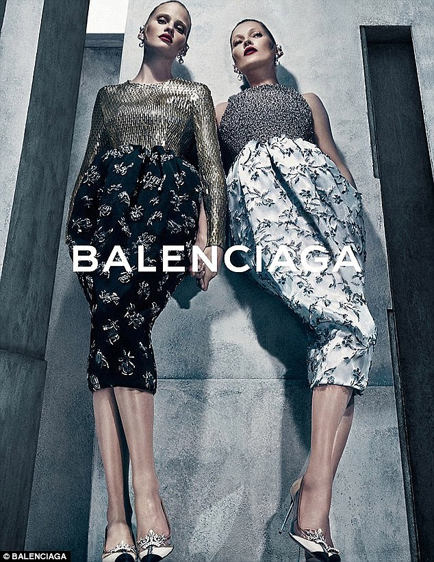 Stunning: The images were taken by famed photographer Steven Klein for Balenciaga boss Alexander Wang's vision of Kate and Lara being 'provocative, sensual and unpredictable'