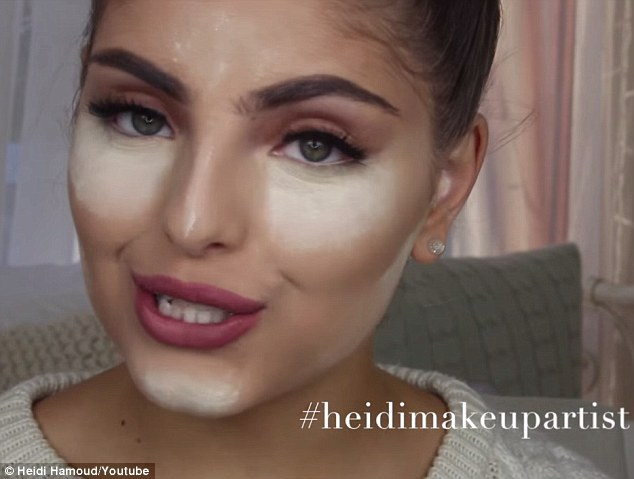 Playing it safe: Heidi Hamoud uses old-school colour theory to correct areas of uneven skin tone in a different make-up tutorial