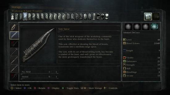 saw spear