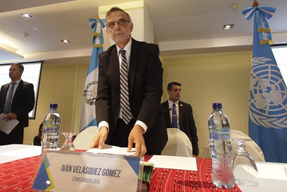 Iván Velásquez, jefe de la CICIG, cuando dio el informe.