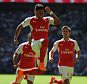 Community Shield, Arsenal v Chelsea 02/08/15: Kevin Quigley/Daily Mail/Solo Syndication Alex Oxlaide Chamberlain scores 1-0