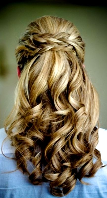 Beautiful half up half down updo pinterest picture