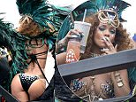 Rihanna sizzles in a costume during kadooment day in Barbados \n\nPictured: Rihanna\nRef: SPL1094151  030815  \nPicture by: Charlie Pitt/246paps/Splash News\n\nSplash News and Pictures\nLos Angeles: 310-821-2666\nNew York: 212-619-2666\nLondon: 870-934-2666\nphotodesk@splashnews.com\n