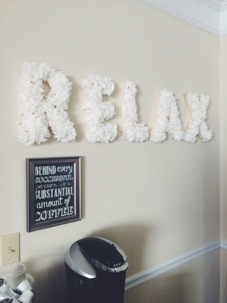 diy coffee filter letters