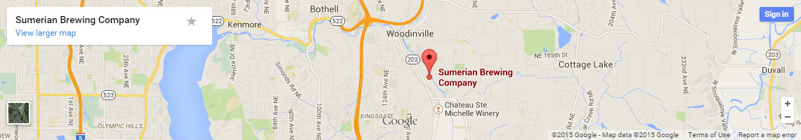 Map to Sumerian Brewing Company