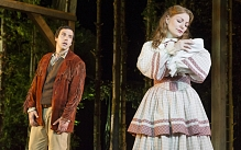 Alex Gaumond as Adam, Laura Pitt-Pulford as Milly in Seven Brides for Seven Brothers