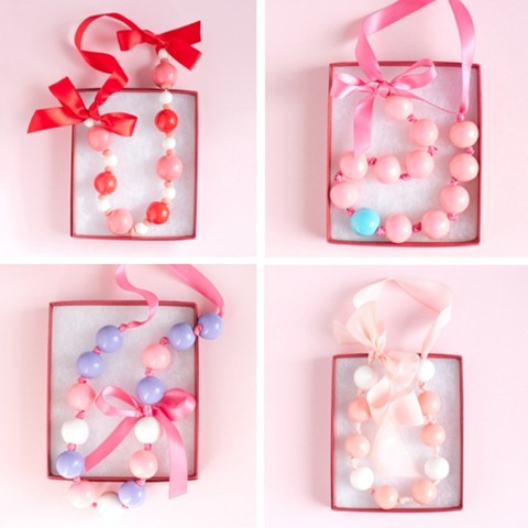 Valentines day gumball necklaces