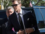 NEW YORK, NY - AUGUST 12:  New England Patriots' quarterback Tom Brady arrives at federal court to appeal the National Football League's (NFL) decision to suspend him for four games of the 2015 season on August 12, 2015 in New York City. The NFL alleges that Brady knew footballs used in one of last season's games was deflated below league standards, making it easier to handle.  (Photo by Andrew Burton/Getty Images)