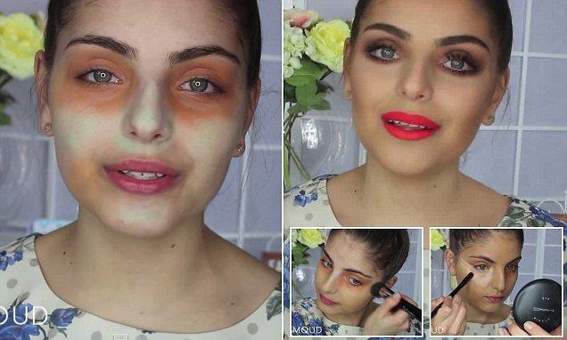 Heidi Hamoud shares YouTube make up tutorial on using green and orange concealer