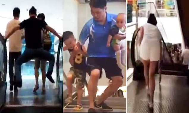 Chinese shoppers avoiding escalators after woman was killed by one