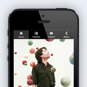 Photograph of iPhone showing a mobile Flavors page