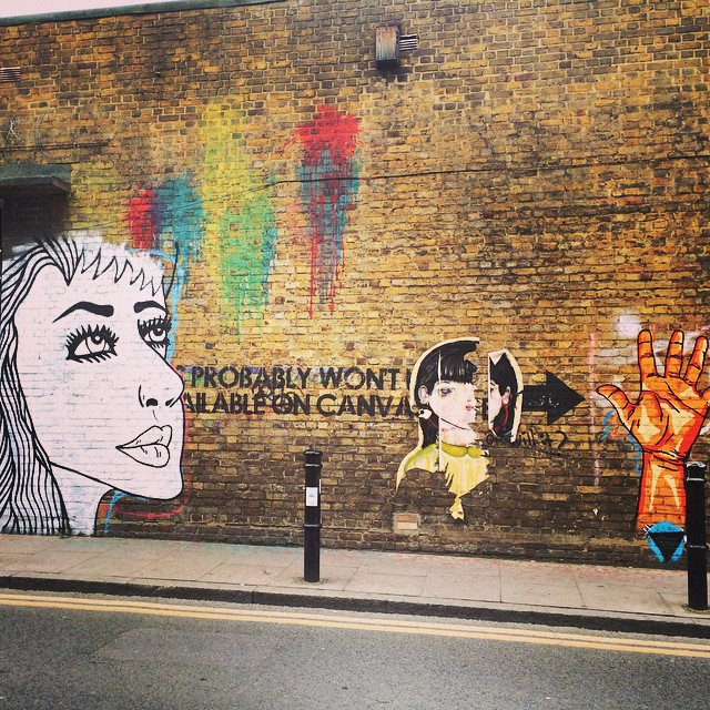 Graffitis hunting #graffitis #streetart #london #shoreditch #bricklane #loveit #colors