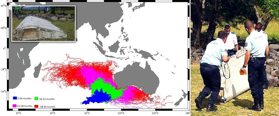 MH370 map prepared by University of Western Australia oceanographers one year ago